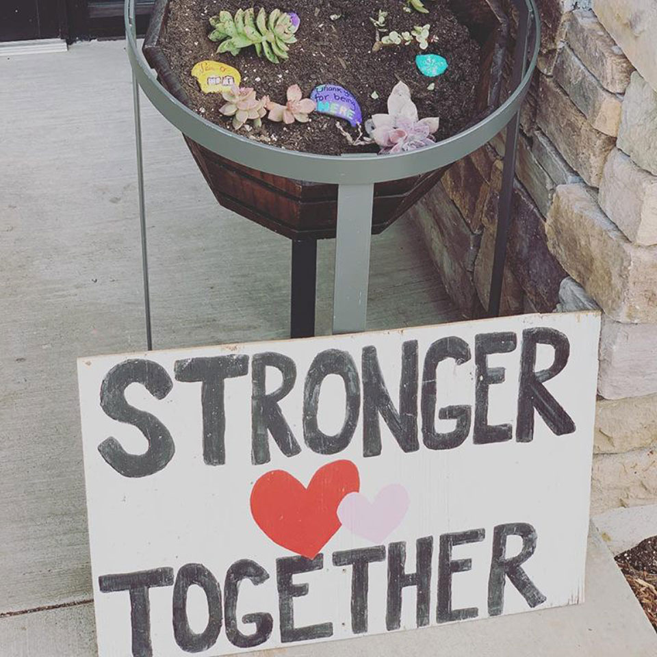 stronger together sign